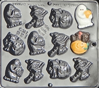 921 Halloween Assortment Chocolate Candy Mold