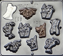 922 Halloween Assortment Chocolate Candy Mold