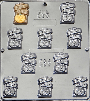 936 Trick or Treat Pieces Chocolate Candy Mold