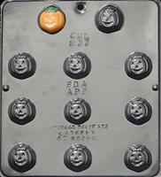 937 Pumpkin Face Chocolate Candy Mold