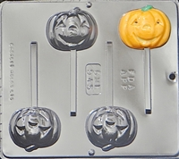 945 Pumpkin Jack O' Lantern Lollipop Chocolate Candy Mold