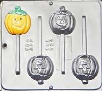 954 Pumpkin Jack O' Lantern Lollipop Chocolate Candy Mold