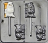 956 Ghost with Broom Lollipop Chocolate Candy Mold
