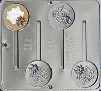 957 Spider on Web Lollipop Chocolate Candy Mold