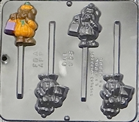 958 Bear Pumpkin Pop Lollipop Chocolate Candy Mold