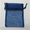 "BA-50-62 Navy Blue Organza Sheer Pouch. Drawstring close 3"" x 4"" Quantity 12"