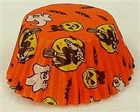 BC-05-50 Halloween Print on Orange Standard Baking Cup 50 ct.