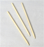 CA-0100  Candy Apple Wooden Dowel. semi-pointed (tapered). 6in. x 1/4in. Quantity 100