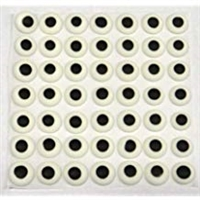 "CE-6-10C   10 CASES CE-6 Eyes. 7/16"" round white with black spot. Qty. 1,000"