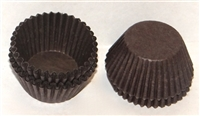"CP-01-0250 #4 Brown candy cup. 1"" diameter, 3/4"" wall. Qty 250"