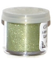 "DP-04 ""Grass Green"" (Avocado) Luster Dusting Powder. 2 gram container."