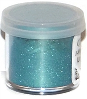 "DP-24 ""Ocean Green"" (Teal) Luster Dusting Powder. 2 gram container."
