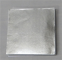 F05 Silver Foil. 3in. x 3in. Qty 125 sheets