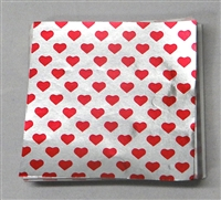 F565 Valentine Print Foil 3in. x 3in. Qty  500 sheets