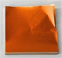 F567 Orange Foil 3in. x 3in. Qty 500 sheets