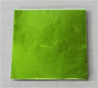 F58 Lime Foil 3in. x 3in. Qty 125 sheets