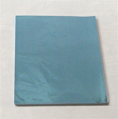 F598 Light Blue Foil 5 1/2in. X 7 1/4in. Qty 500 sheets
