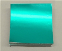 F599 Teal Foil. 3in. x 3in. Qty 500 sheets