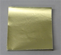 FD15 Dull Gold Confectionery Foil 3in. x 3in. Qty 125 sheets