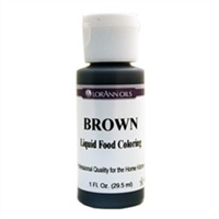 LFC-03 LorAnn Oils Brown Liquid Food Coloring , 1 ounce