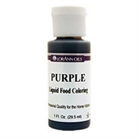 LFC-07 LorAnn Oils Purple Liquid Food Coloring , 1 ounce