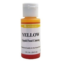 LFC-09 LorAnn Oils Yellow Liquid Food Coloring , 1 ounce