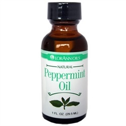 LO-106 Peppermint Oil, Natural. 1 ounce bottle.