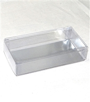 OB-SI100 OREO Cookie 2 Piece Clear Favor Boxes w/ Cardboard Silver Insert Qty 100