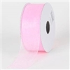 "R-02 Pink sheer organza ribbon. 5/8"" x 25yds."