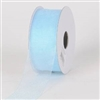 "R-03 Light Blue sheer organza ribbon. 5/8"" x 25yds."