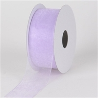 "R-08 Lavender sheer organza ribbon. 5/8"" x 25yds."