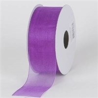 "R-09 Purple sheer organza ribbon. 5/8"" x 25yds."