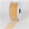 "R-14 Light Gold. Sheer organza ribbon. 5/8"" x 25yds."