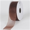 "R-18 Chocolate sheer organza ribbon. 5/8"" x 25yds."