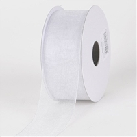 "R-20 Silver sheer organza ribbon. 5/8"" x 25yds."