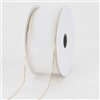 "R-40 White w/Gold edge. Sheer organza ribbon. 5/8"" x 25yds."
