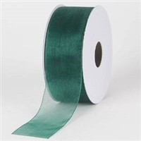 "R-59 Hunter Green sheer organza ribbon. 5/8"" x 25yds."