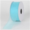 "R-97 Aqua sheer organza ribbon. 5/8"" x 25yds."