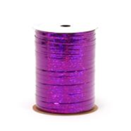 "RHS-06 Purple Holographic ribbon spool 3/16"" x 100yds."