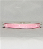 "RN-02 Pink sheer organza ribbon 1/4"" x 25yds."