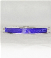 "RN-09 Purple sheer organza ribbon 1/4"" x 25yds."