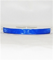 "RN-12 Royal Blue sheer organza ribbon 1/4"" x 25yds."