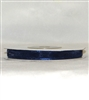 "RN-62 Navy sheer organza ribbon 1/4"" x 25yds."
