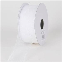 "RO-01-25 White sheer organza ribbon. 1 1/2"" x 25yds"
