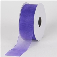"RO-12-25 Royal Blue sheer organza ribbon. 1 1/2"" x 25yds"