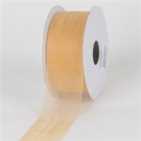 "RO-14 Light Gold sheer organza ribbon 1 1/2"" x 100yds"