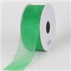"RO-17 Emerald Green sheer organza ribbon. 1 1/2"" X 100yds."