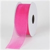 "RO-28 Hot Pink sheer organza ribbon 1 1/2"" x 100 yds."