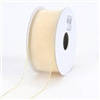 "RO-41-25 Ivory with Gold edge. Sheer organza ribbon. 1 1/2"" X 25yds"