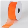 "RO-95-25 Orange sheer organza ribbon. 1 1/2"" x 25yds"